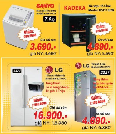 Khuyến mại tủ lạnh