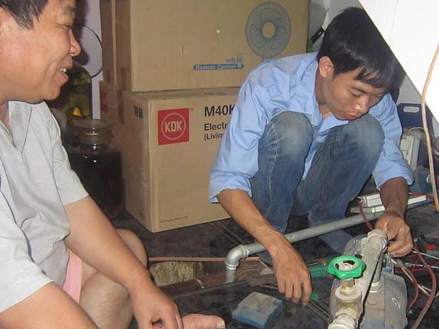 Sửa máy bơm tại Ba Đình